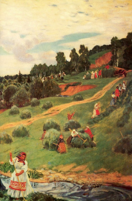 Boris Mikhailovich Kustodiev. Hay. Fragment