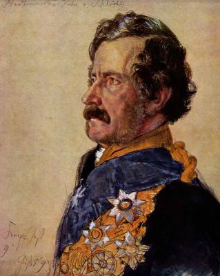 Adolf Friedrich Erdmann von Menzel. Minister Baron von Clinic