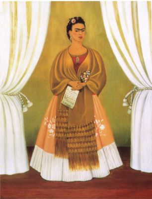 Frida Kahlo. Self portrait dedicated to Leon Trotsky