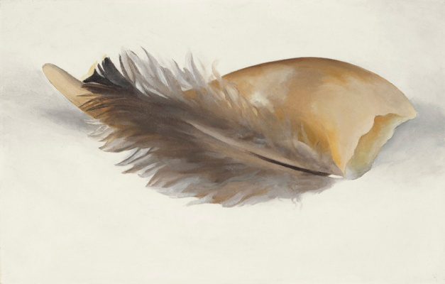 Georgia O'Keeffe. Horn and feather