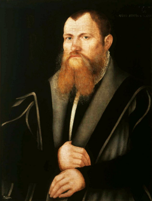 Lucas the Younger Cranach. Portrait of a bearded man. National Museum, Warsaw
