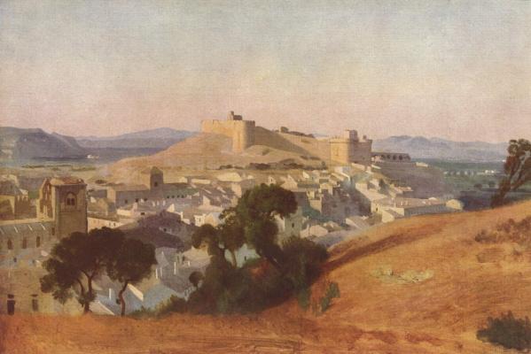 Camille Corot. View of Villeneuve-les-Avignon. Fort St. Andre