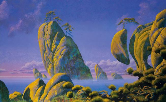 Roger Dean. Yellow island