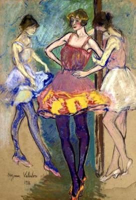 Suzanne Valadon. Three dancers