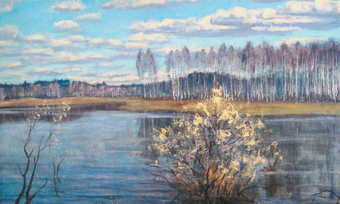 """Nikolay Alekseevich Enin. """"Willow blossoms"""""""