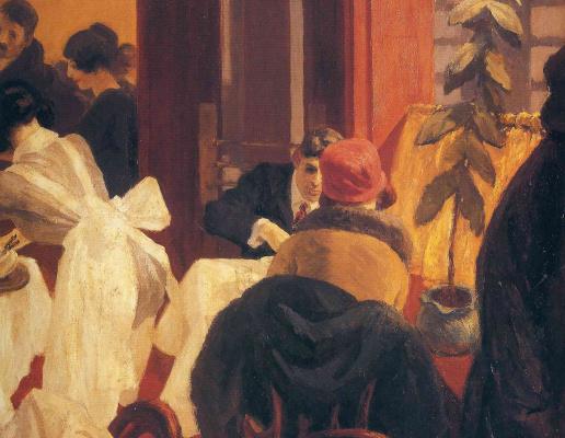 Edward Hopper. A new York restaurant