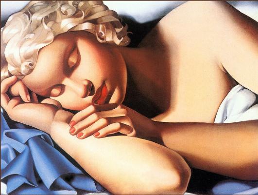 Тамара Лемпицка. Спящая девушка (Кизетта)