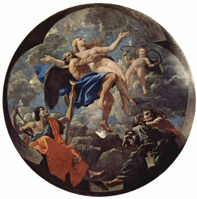 Nicola Poussin. Time and Truth. Allegory. Tondo