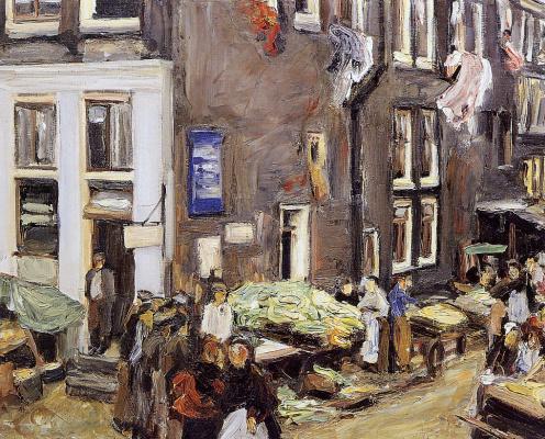 Max Lieberman. The Jewish quarter of Amsterdam