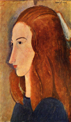 Amedeo Modigliani. Portrait of a young woman (Profile of Jeanne hébuterne)