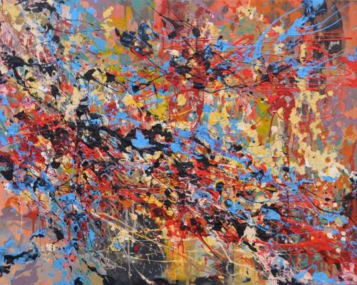"Tanya Vasilenko. ""Hot balance"", balance Hot, Acrylic on Canvas. 2016"