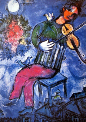 Marc Chagall. The blue violinist