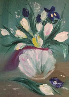 Мери Тумилович. Ирисы и тюльпаны