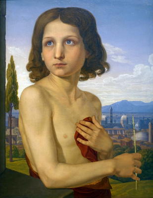 Johann Friedrich Overbeck. Portrait of the boy Xaviero in the image of St. John the Baptist