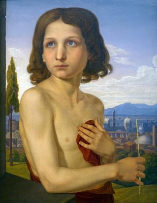 Johann Friedrich Overbeck. Portrait of the boy Xaviero in the image of St. John the Baptist