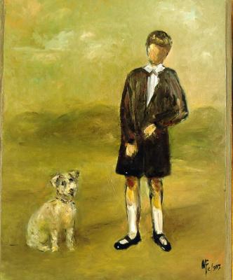 Мари Ромеро Кампо. Мальчик с собакой