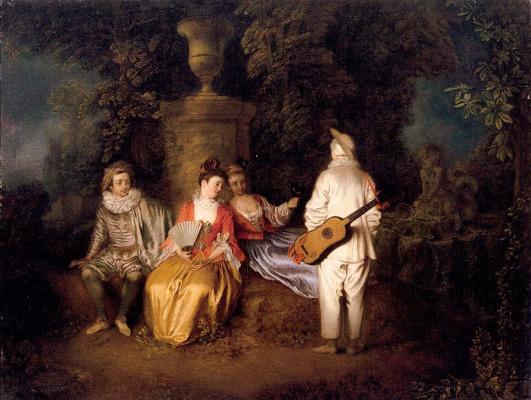 Antoine Watteau. Four