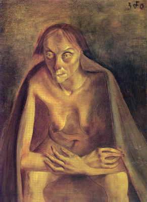 Otto Dix. Nude with veil