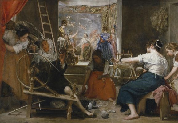 Diego Velazquez. Las Hilanderas (The Fable of Arachne)