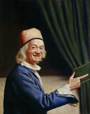 Jean-Etienne Lyotard. Self-portrait (Liotard laughing)