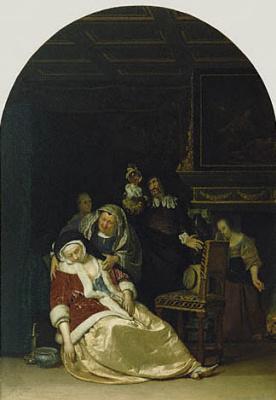 Франц ван Мирис Старший. Визит врача