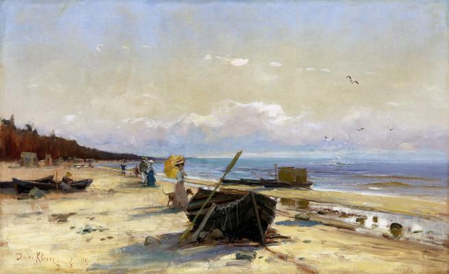 Julius Klever. Evening walk on the beach