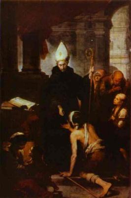 Бартоломе Эстебан Мурильо. Святой Томас раздает милостыню