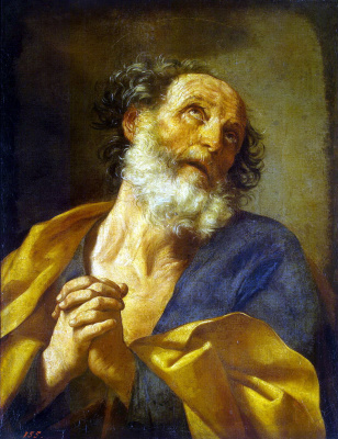 Guido Reni. The remorse of the Apostle Peter