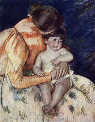 Mary Cassatte. The Mother and Child