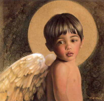 Nancy Noel. Boy with a halo