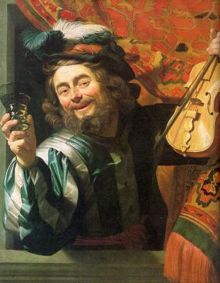 Gerard van Honthorst. The merry Fiddler