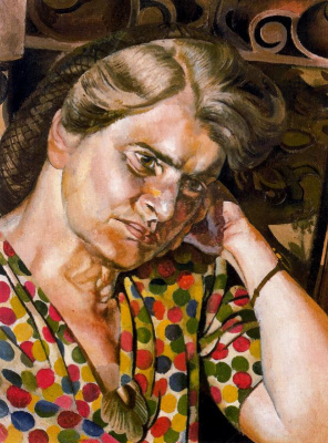Stanley Spencer. Portrait of Hilda Carline