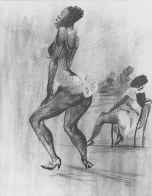 Alexander Alexandrovich Deineka. Negro burlesque