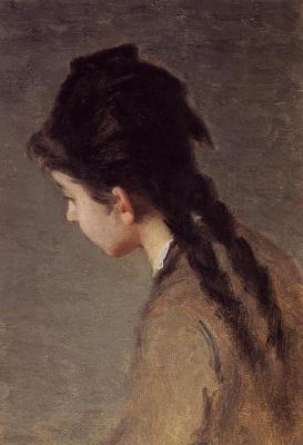 Ева Гонсалес. Портрет Жанны Гонсалес в профиль