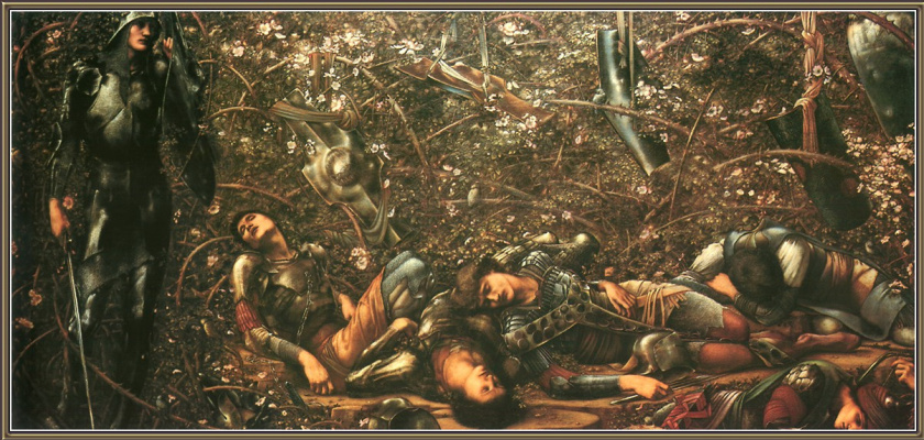 """Edward Coley Burne-Jones. Series """"Rose Thorn"""": Rosehip Thickets"""