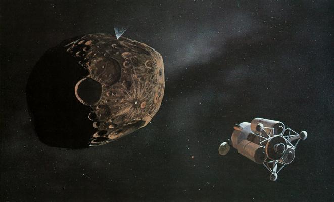 William Hartmann. Test Trojan asteroid