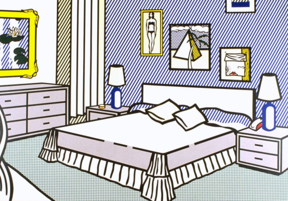 Roy Liechtenstein. Interior with water lilies