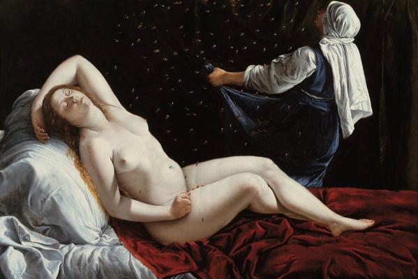 Artemisia Gentileschi. Danaya