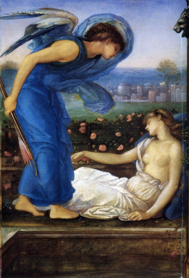 Edward Coley Burne-Jones. Cupid abducts psyche