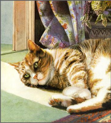 Крисси Снеллинг. Кот отдыхает
