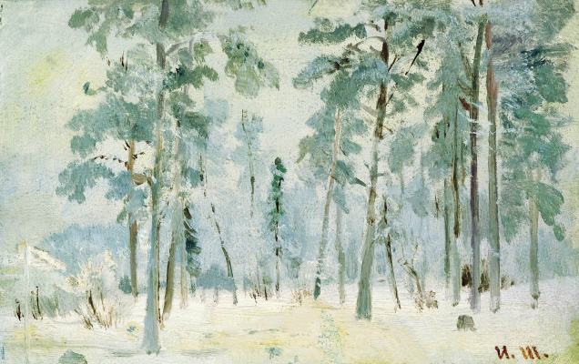 Ivan Ivanovich Shishkin. The woods in frost
