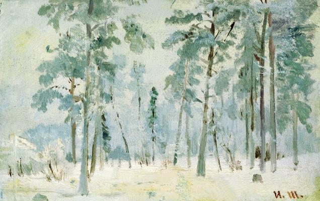 Ivan Ivanovich Shishkin. The woods in frost