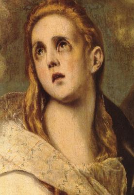 Эль Греко (Доменико Теотокопули). Кающаяся Магдалина (фрагмент)