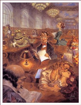 Питер де Сев. Комната для чтения