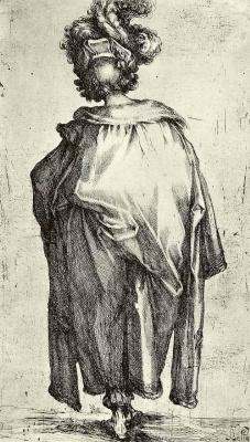 "Jacques Bellange. A series of ""Holy kings [Magi] "": Balthasar, king of Saba"