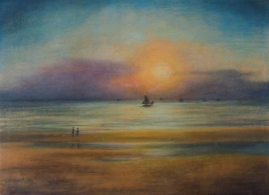Леон Спиллиарт. The Beach (Plage - Marine), 1916