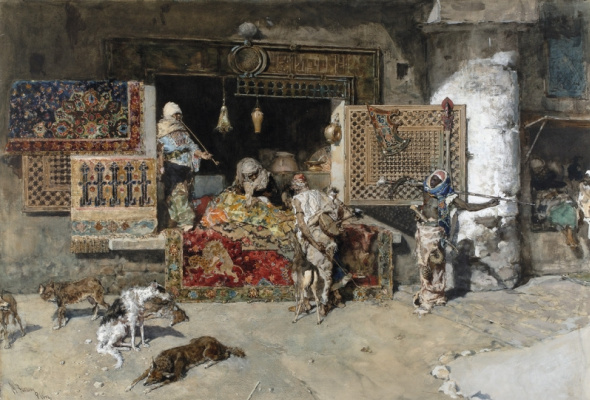 Mariano Fortuni-i-Carbo. The rug seller