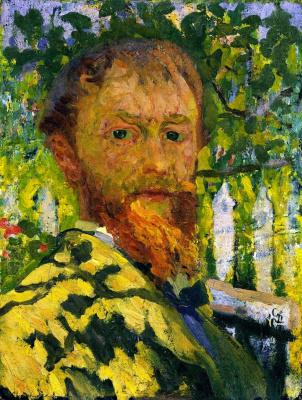 Giovanni Giacometti. Self-portrait in the garden