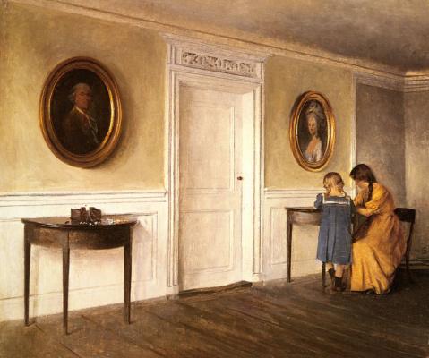 Петр Вильгельм Илстед. Две дочери художника