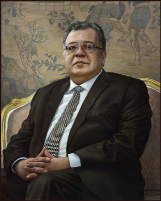 Sushienok64 @ mail.ru Mikhailovich Sushenok Igor. Portrait of the Ambassador of the Russian Federation. A.G. Karlova